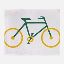 Green and Gold Cycling Throw Blanket