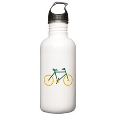 Green and Gold Cycling Water Bottle