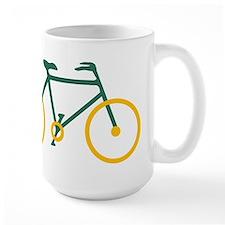 Green and Gold Cycling Mug