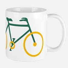 Green and Gold Cycling Mug