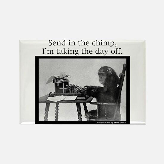 Office Chimp Rectangle Magnet