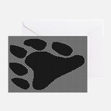 BLK BEAR PAW/BLK/WHT/WOOF Greeting Cards (10 pk