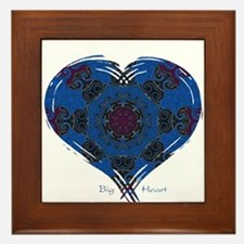 Big Heart Balance Framed Tile