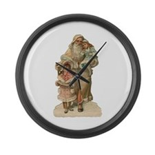 Victorian Santa Claus Large Wall Clock