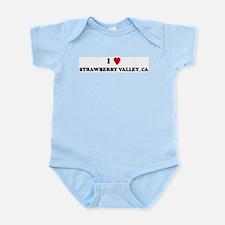 I Love STRAWBERRY VALLEY Infant Creeper