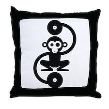 Monkey Music Throw Pillow