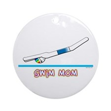 Swim Mom (boy) Ornament (Round)