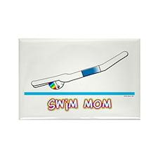 Swim Mom (boy) Rectangle Magnet