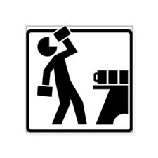 "Drinking Pictogram Square Sticker 3"" x 3"""