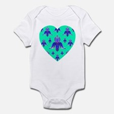 Exotic Jade Orchid Heart Infant Creeper