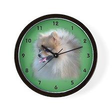 Perky Pomeranian Wall Clock