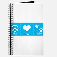 Peace, Love, My Pet-Blue Journal