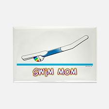 Swim Mom (girl) Rectangle Magnet