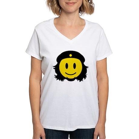 Che Smiley Icon Women's V-Neck T-Shirt