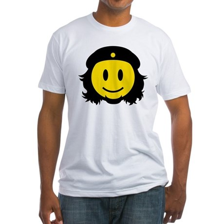 Che Smiley Icon Fitted T-Shirt