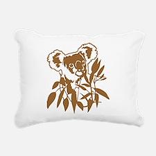 KOALA EUCALYPTUS Rectangular Canvas Pillow