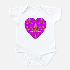 Deep Violet Orchid Heart Infant Creeper