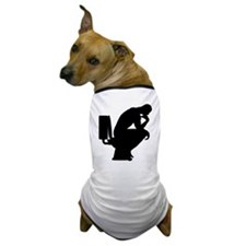 Think shit happens - The Thinker Icon Dog T-Shirt