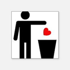 "Trash Heart Man Square Sticker 3"" x 3"""