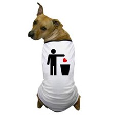 Trash Heart Man Dog T-Shirt
