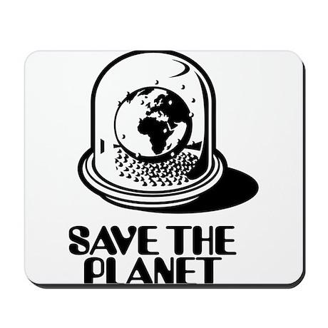 World Snow Globe - Save the planet Mousepad