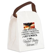 THE VETERAN!!!! Canvas Lunch Bag