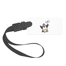 Massachusetts Penguin Luggage Tag