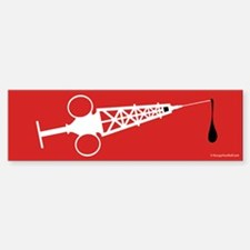 Hypo-Derrick (White/Red) Sticker (Bumper)