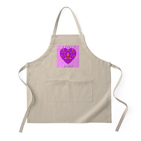 I Love You Purple Passion Orc BBQ Apron