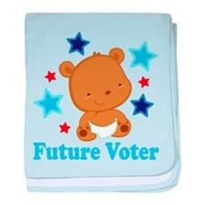 Future Voter Bear baby blanket