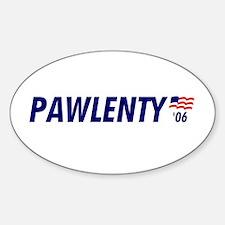 Pawlenty 06 Oval Decal