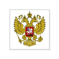 "Russian Eagle Square Sticker 3"" x 3"""