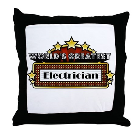 World's Greatest Electrician Throw Pillow