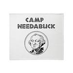 Camp Needabuck George Throw Blanket