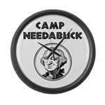 Camp Needabuck George Large Wall Clock