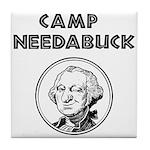 Camp Needabuck George Tile Coaster