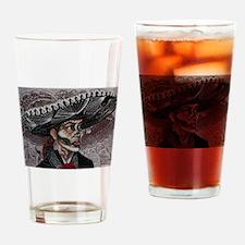 La Catrina Drinking Glass