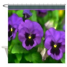 Purple Pansy Faces.jpg Shower Curtain