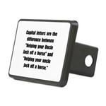 Capital Letters Jack Rectangular Hitch Cover