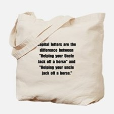 Capital Letters Jack Tote Bag