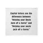 Capital Letters Jack Throw Blanket