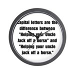 Capital Letters Jack Wall Clock