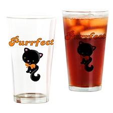 Black Cat Purrfect Drinking Glass