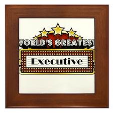 World's Greatest Executive Framed Tile