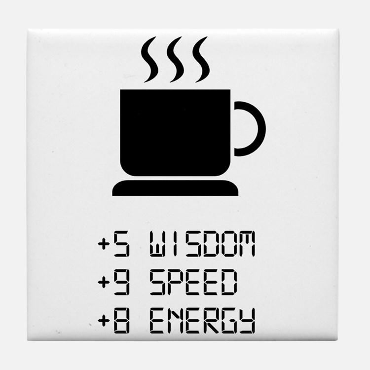 Coffee Power Up Tile Coaster