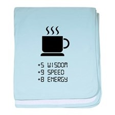 Coffee Power Up baby blanket