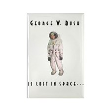 Bush is Lost in Space Rectangle Magnet