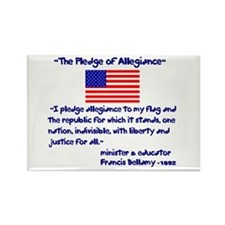 The Pledge of Allegiance Rectangle Magnet(10 pack)