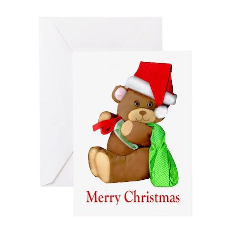 Santa Bear Greeting Card