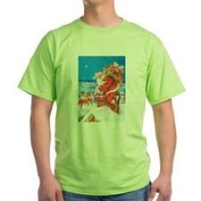 Santa Up On the Rooftop T-Shirt